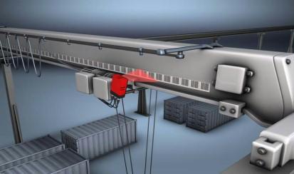 Позиционирование деталей на конвейере ленточные конвейера бу